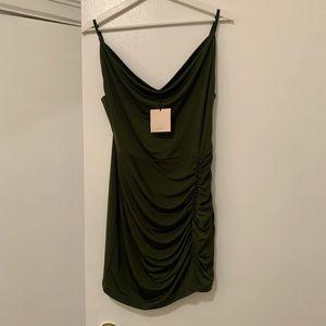 Revolve Army Green Mini Dress